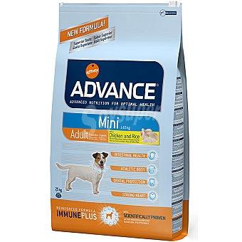 Advance Affinity Alimento de alta gama para perros adultos y raza pequeña rico en pollo y arroz Mini Adult Bolsa 7,5 kg