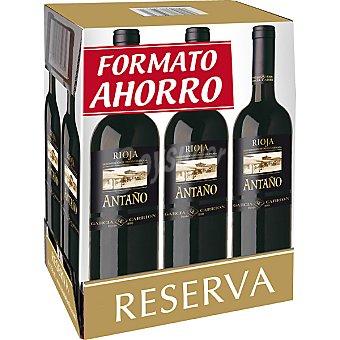 Antaño Vino tinto reserva D.O. Rioja caja formato ahorro 6 botellas 75 cl