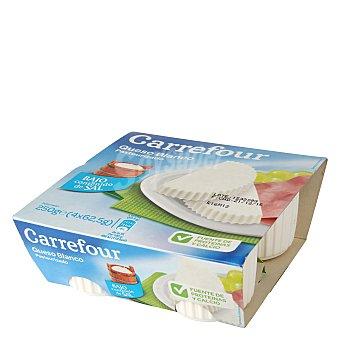 Carrefour Queso Blanco pasteurizado sin sal Pack de 4x62,5 g