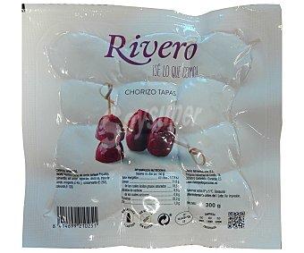 Rivero Chorizo ahumado especial para tapas, elaborado sin gluten y sin lactosa 300 g