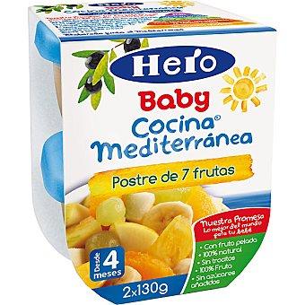 Hero Baby Tarrito postre de 7 frutas Cocina Mediterránea Estuche 260 g