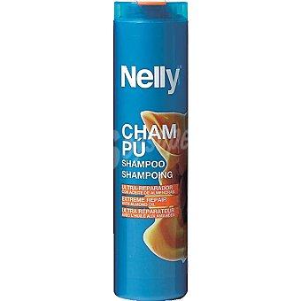 Nelly Champú ultra reparador con aceite de almendras Frasco 400 ml