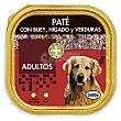 Comida perro pate buey higado verdura adulto razas medianas y grandes Tarrina 300 g Bobby