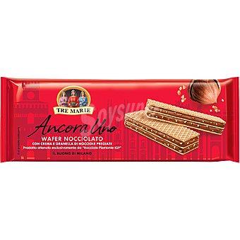 Ancora TRE marie uno galletas de barquillo rellenas de crema de avellanas Paquete 140 g