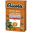 Caramelos balsámicos de hierbas suizas sin azúcar sabor naranja-menta Caja 50 g Ricola