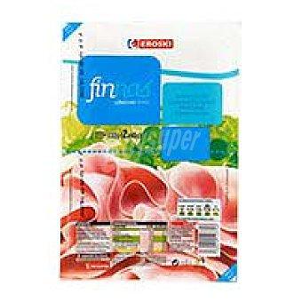 Eroski Jamón cocido extra Finnas Pack 2x65 g
