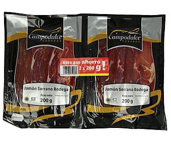 Campodulce Jamón serrano de bodega, cortado en lonchas 2 x 200 g