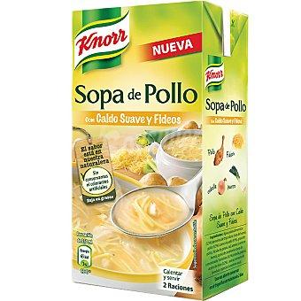 Knorr Sopa de pollo con caldo suave y fideos Brik 500 ml