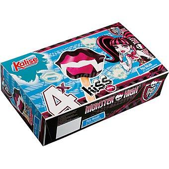 Kalise Kiss Monster High polos helados 4 unidades, estuche 320 ml