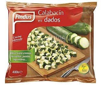 FINDUS calabacín en dados bolsa 400 g