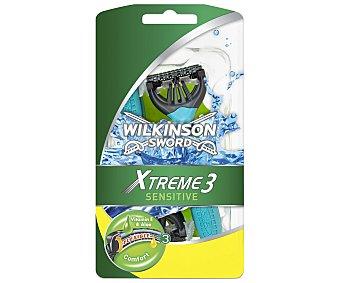 Wilkinson Maquinilla de afeitar desechable, triple hoja xtreme 3 sensitive 6 unidades