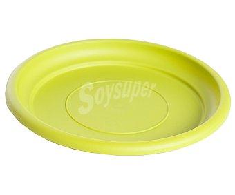 VAN Plato circular de plástico de color pistacho 1 Unidad