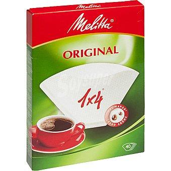Melitta Filtros de café Classic 1-4 tazas Bolsa 40 unidades