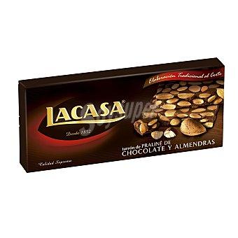 Lacasa Turrón de praliné de chocolate y almendras 250 g