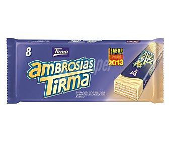 Tirma Barras Ambrosías con relleno cubiertas de chocolate blanco, 8 unidades 172 gramos 8u 172g