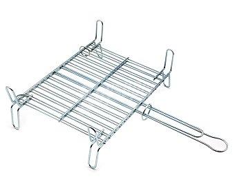 DALPER Parrilla doble rectangular de hierro para barbacoas, 45x50 centímetros 1 unidad