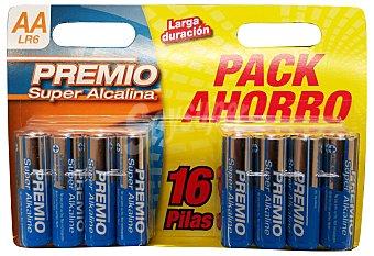 PREMIO PILA SUPER ALCALINA AA LR06 PAQUETE 16 unidades