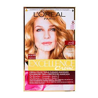 Excellence L'Oréal Paris Tinte coloración Crème Triple Protección rubio claro nº 8 Caja 1 unidad