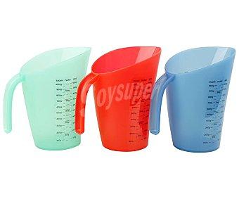 Actuel Jarra medidora de plástico, de capacidad, varios colores, actuel 1 litro