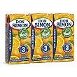 Zumo exprimido de naranja pack 3 unidades 200 ml Don Simón
