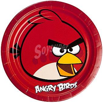 Liragram plato cartón decorado Angry birds 23 cm  8 unidades