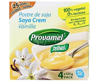 Provamel Postre a base de soja, sabor vainila Pack de 4 unidades de 125 gramos