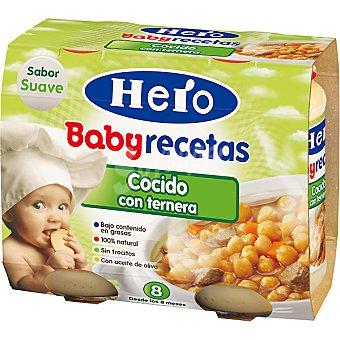 Hero Baby Tarrito cocido con ternera Recetas Caseras Envase 400 g