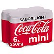 Refresco de cola light Pack 6 latas de 250 ml Coca-Cola Light