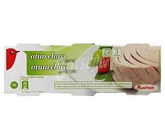 Auchan Atún Claro al Natural 3x56g