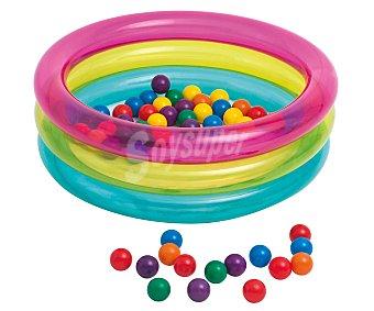 SNC Piscina hinchable infantil con 50 bolas de plástico en su interior, medidas de 86x25 centímetros y recomendada para niños de + 1 año