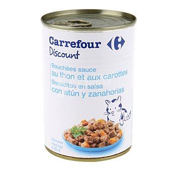 Carrefour Discount Bocaditos para gatos de atún 400 gr