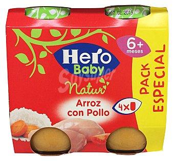 Hero Baby Tarrito de arroz con pollo a partir de 6 meses Natur Pack 4 x 235 g - 940 g