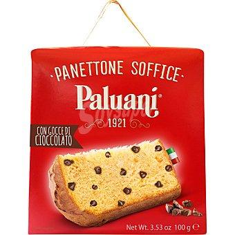PALUANI Panettone Soffice con gotas de chocolate Caja 100 g