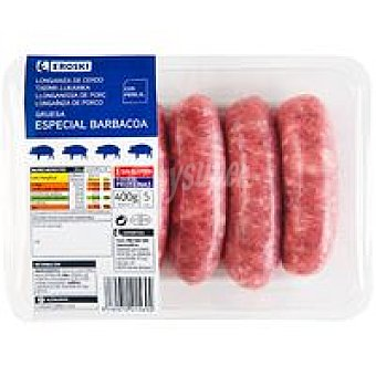 Eroski Longaniza gruesa especial barbacoa Bandeja 400 g