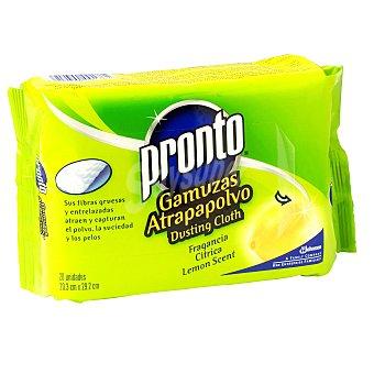 Pronto Toallitas atrapa polvo perfumadas con fragancia limón Caja 20 unidades