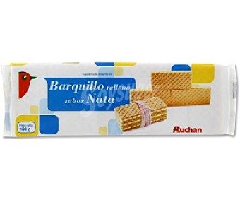 Auchan Barquillos sabor nata 160 Gramos