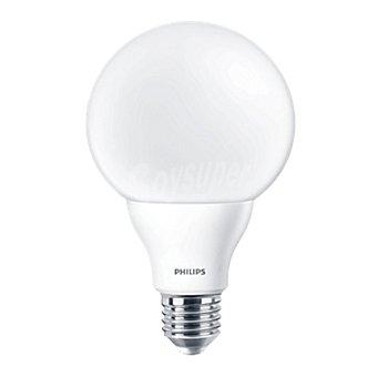 Philips Bombilla globo led, luz blanca cálida, 9,5 W, equivalente a 60 W, casquillo E27