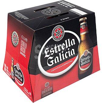 Estrella Galicia Cerveza rubia especial pack 12 botellas 25 cl Pack 12 botellas 25 cl