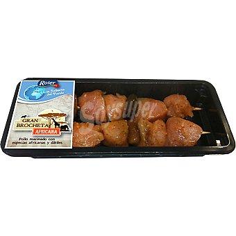 ROLER brocheta africana de pollo bandeja 250 g peso aproximado 2 unidades