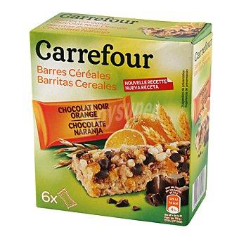 Carrefour Barritas de muesli con chocolate y naranja 150 g
