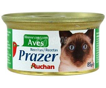Auchan Comida completa para gatos de mousse con aves 85 gramos