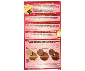 Palette Schwarzkopf Tinte Intense Color Cream rubio dorado caramelo nº 7.5 coloración de cuidado intensivo Caja 1 unidad