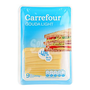 Carrefour Queso en Lonchas Gouda Light 200 g