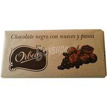 Orbea Chocolate negro con nueces-pasas Tableta 125 g