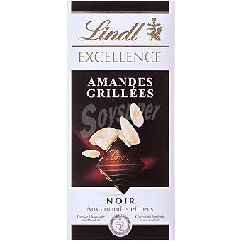 LINDT EXCELLENCE Chocolate negro con almendras tostadas Tableta 100 g