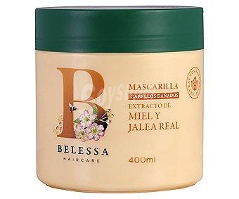 Belessa Mascarilla con extracto de miel y jalea real, para cabellos dañados 400 ml