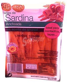 Hacendado Sardinas anchoadas Paquete de 160 g peso escurrido