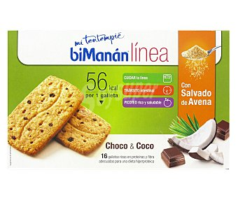 Bimanan Linea Galleta Choco-Coco Avena 200 Gramos