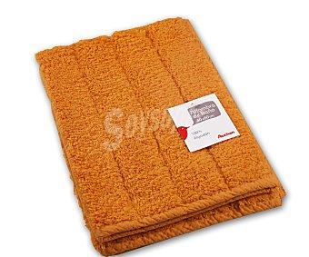 AUCHAN Alfombra de rizo 100% algdón, 1200 g/m², color amarillo, 40x60 centímetros 1 Unidad
