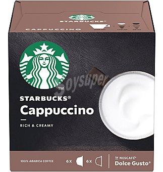 Starbucks Cápsulas café dg cappuccino 12 unidades